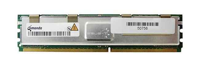 Memory RAM 1x 1GB QIMONDA ECC FULLY BUFFERED DDR2 667MHz PC2-5300 FBDIMM | HYS72T128420HFN-3S-B